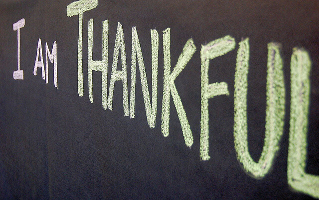 Gratitude means being thankful more than once a year